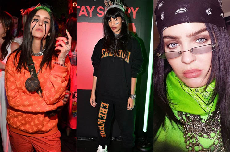 Nina Dobrev, Jameela Jamil and Anne Marie All Dressed Up Like Billie Eilish for Halloween
