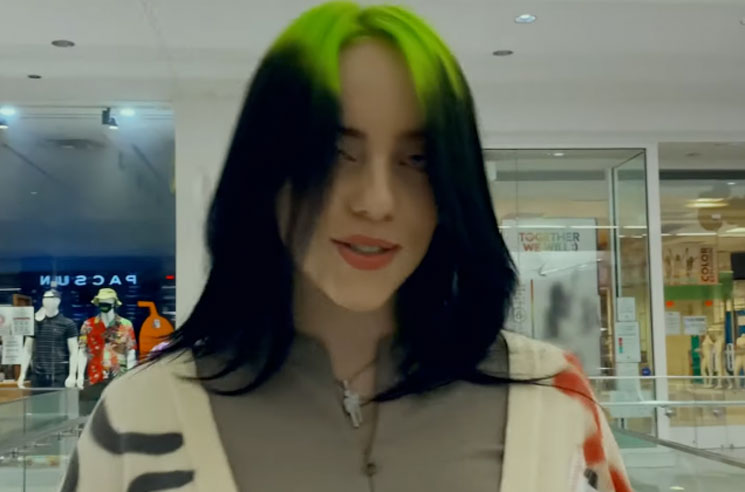 Watch Billie Eilish Take Over a Deserted Shopping Mall in Her New 'Therefore I Am' Video