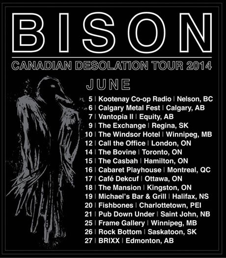 Bison Map Out 'Canadian Desolation Tour'