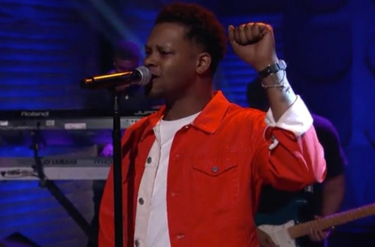 "BJ the Chicago Kid Mashes Up ""Woman's World"" and ""Turnin' Me Up"" on 'Conan'"