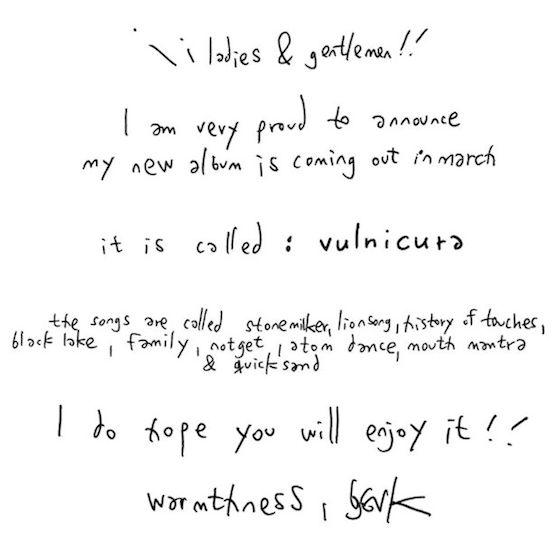 Björk Announces 'Vulnicura' Album