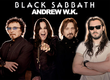 Andrew W.K. Added as Opener for Black Sabbath's North American Tour
