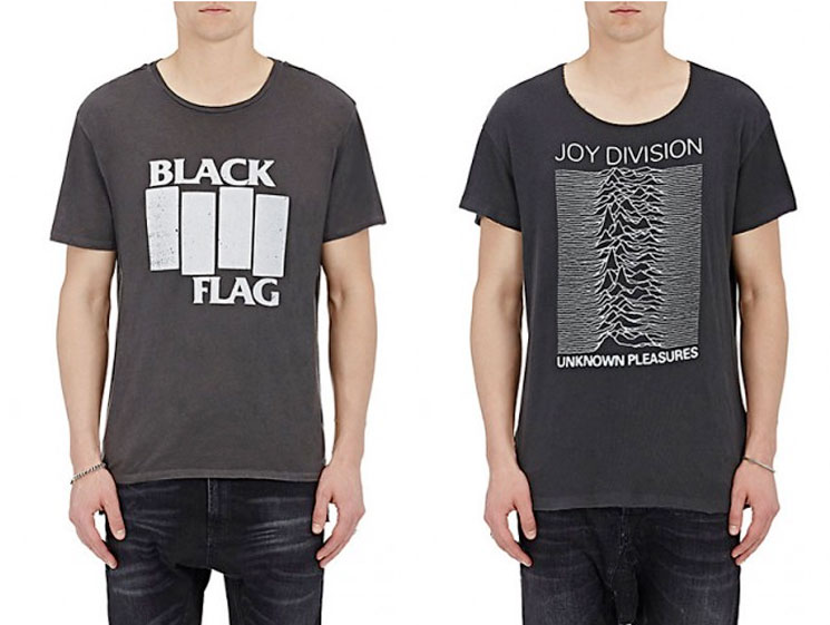 Buy All the Punk Cred You Need with These $350 Black Flag and Joy Division T-Shirts at Barneys