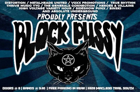 Black Pussy's Calgary Show Is Back On at New Venue