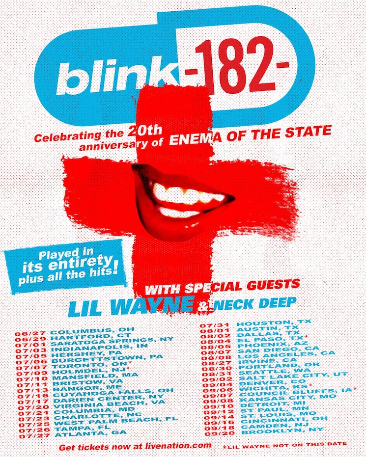 Blink-182 Are Playing 'Enema of the State' in Its Entirety on Their Summer Tour