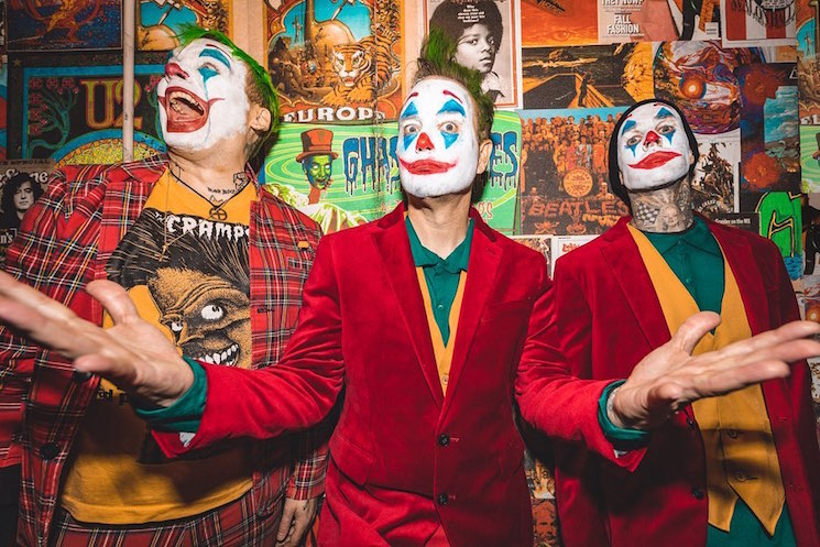 Watch Blink-182 Cover the Misfits in Full 'Joker' Garb
