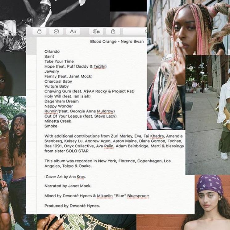 Blood Orange Reveals 'Negro Swan' Tracklist Featuring Puff Daddy, A$AP Rocky