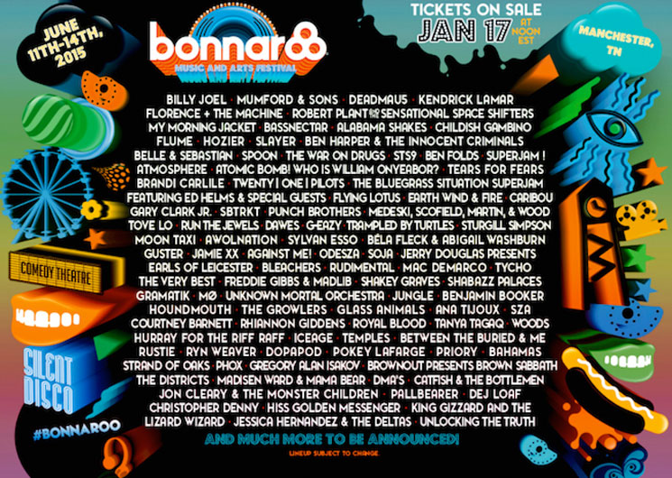 Bonnaroo Rolls Out 2015 Lineup