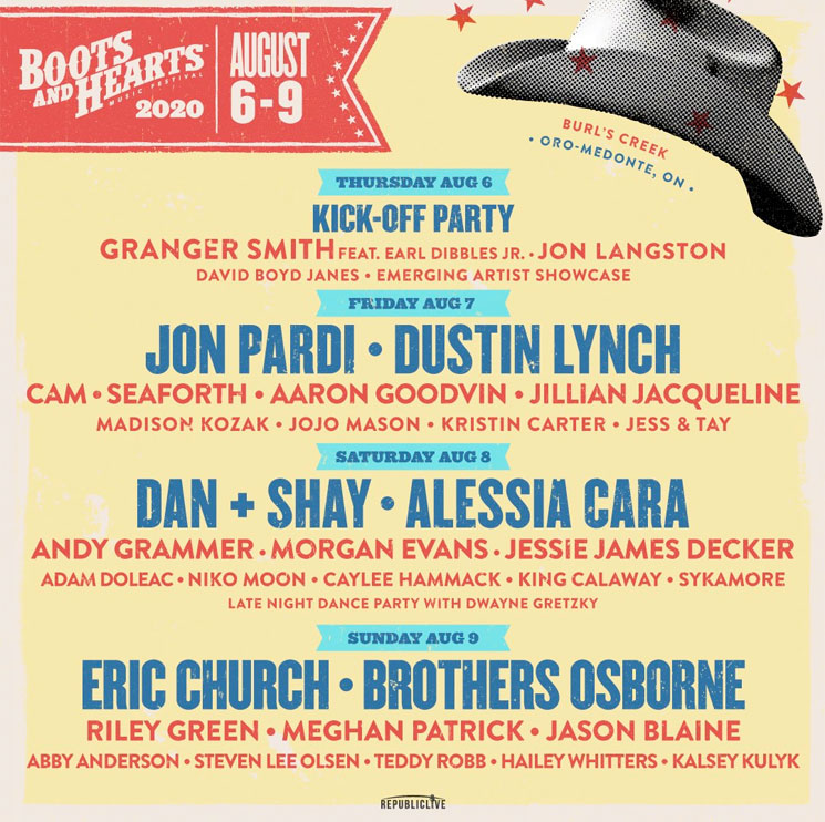 Boots and Hearts Announces 2020 Lineup with Eric Church, Dan + Shay, Alessia Cara