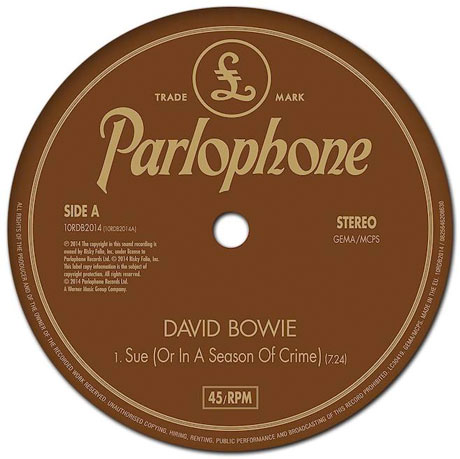 "David Bowie ""Sue (Or in a Season of Crime)"""