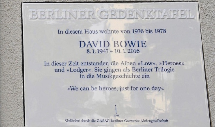 David Bowie Memorial Plaque in Berlin Stolen and Destroyed