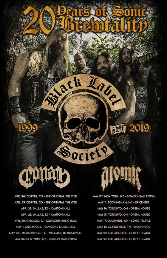 Black Label Society Celebrate the 20th Anniversary of 'Sonic Brew' with North American Tour and Reissue