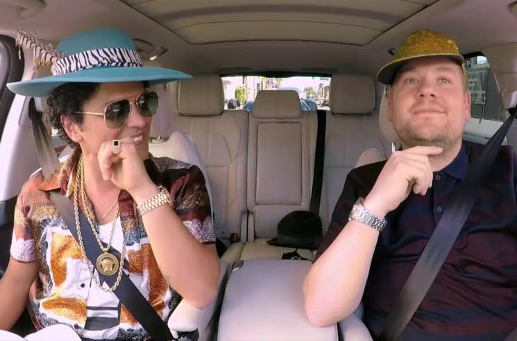 Bruno Mars Tries on Ridiculous Hats, Impersonates Elvis and Belts Out Ballads for 'Carpool Karaoke'
