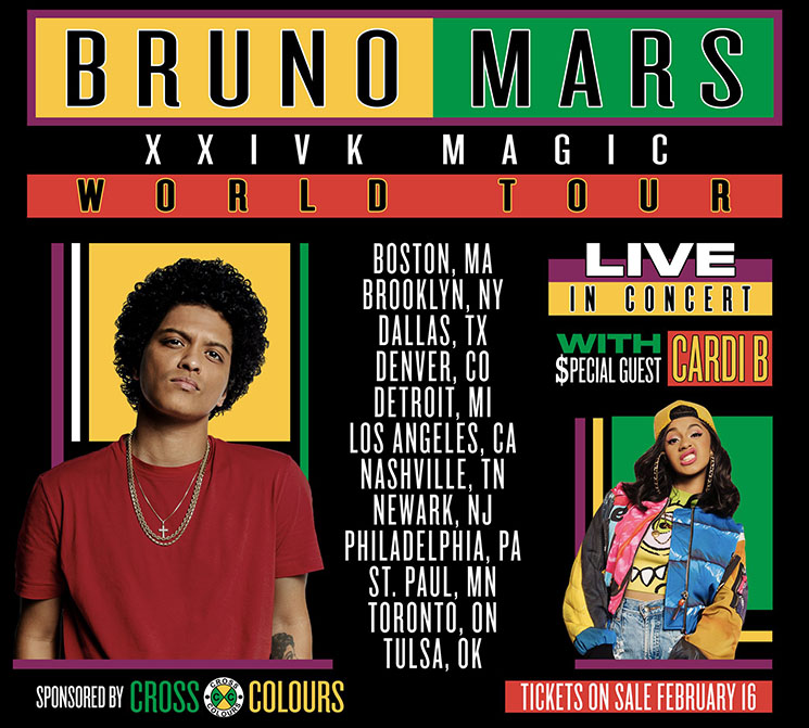 Cardi B Drops Off Bruno Mars' '24K Magic World Tour'