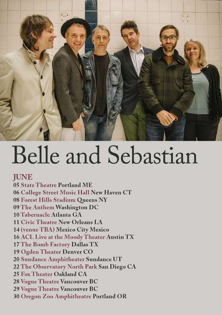 ​Belle and Sebastian Plot 2018 North American Tour