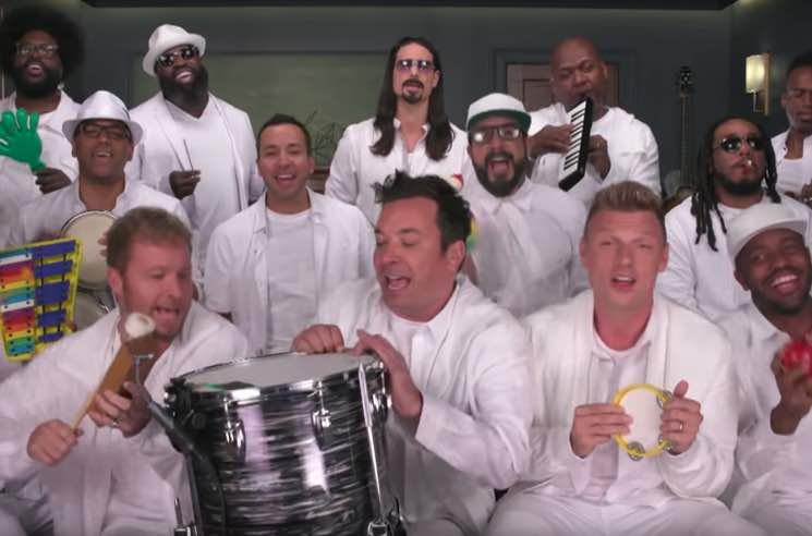 "​Watch Backstreet Boys Perform ""I Want It That Way"" on Toy Instruments with Jimmy Fallon"