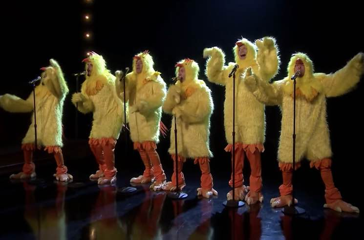 "Watch the Backstreet Boys and Jimmy Fallon Dress Up as Chickens and Perform ""Everybody (Backstreet's Back)"""