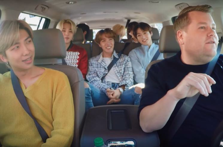 ​Watch BTS Pile into James Corden's Vehicle for 'Carpool Karaoke'