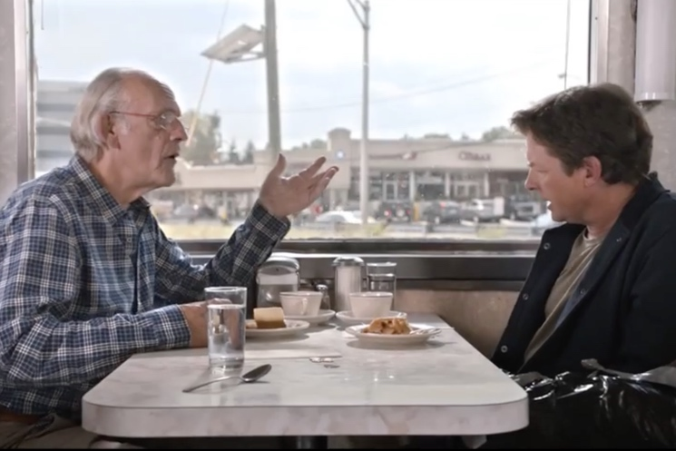"Michael J. Fox and Christopher Lloyd Celebrate ""'Back to the Future' Day"" with Toyota Ad"