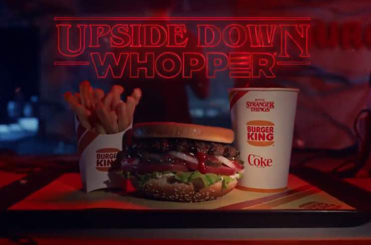 Burger King Is Selling Upside Down Whoppers to Promote 'Stranger Things'