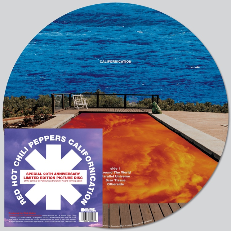 Red Hot Chili Peppers Celebrate 20th Anniversary of 'Californication' with Picture Disc Reissue