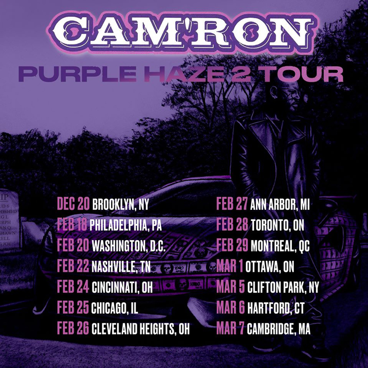 "Cam'ron Is Bringing His ""Purple Haze 2 Tour"" to Canada"