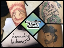 Check Out the Weirdest and Coolest Canadian Music Tattoos