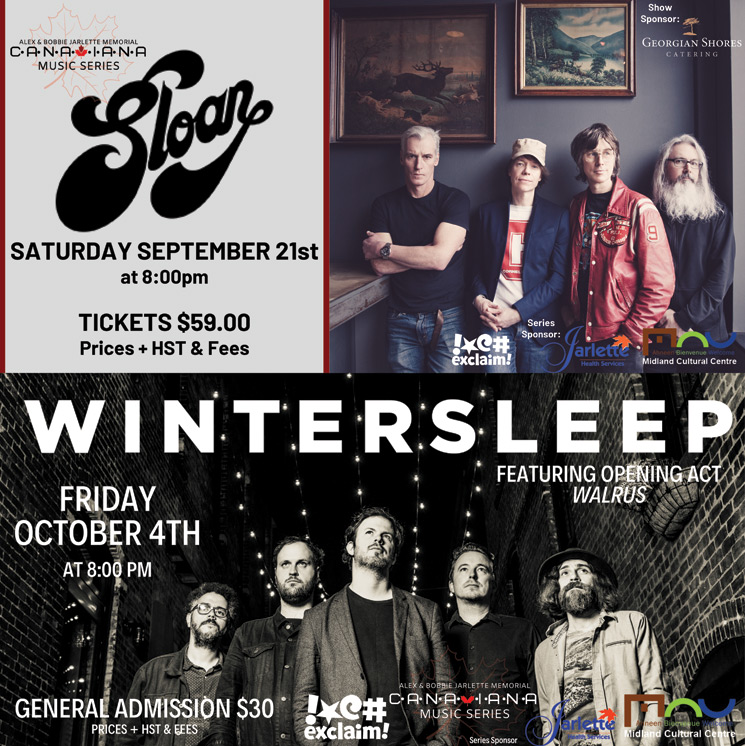 Wintersleep, Sloan and Walrus Join Midland Canadiana Music Series