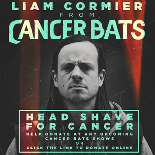 Cancer Bats' Liam Cormier Launches Head Shave for Cancer Fundraiser