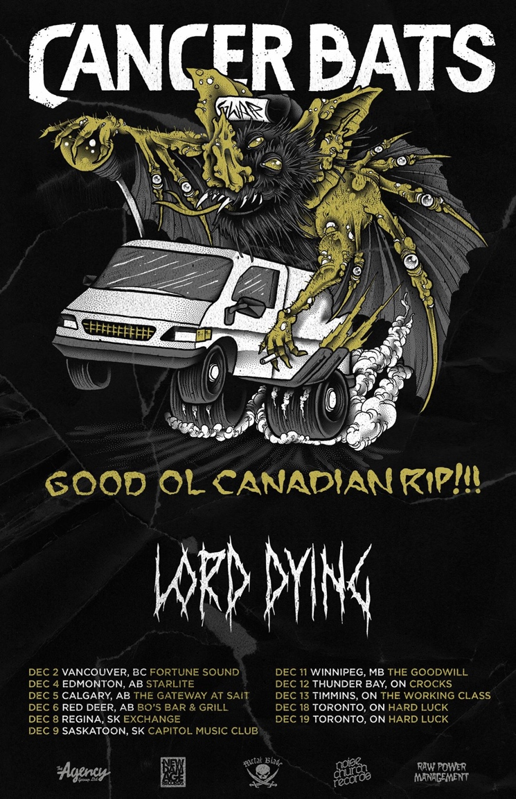 "Cancer Bats Announce ""The Good Ol Canadian Rip"" Tour"