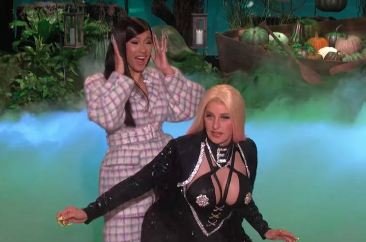 ​Ellen Dressed Up as Cardi B in 'Hustlers' for Halloween