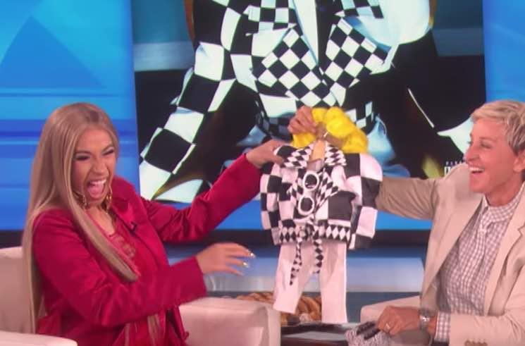 Cardi B Talks Pregnancy Cravings and Baby Names on 'Ellen'