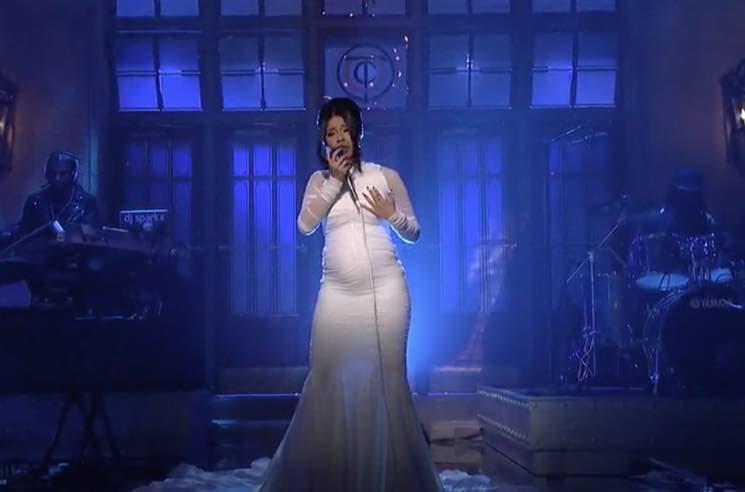 Cardi B Confirms Pregnancy During 'Saturday Night Live' Performance