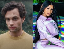 Cardi B and Penn Badgley Are Kind of Obsessed with Each Other