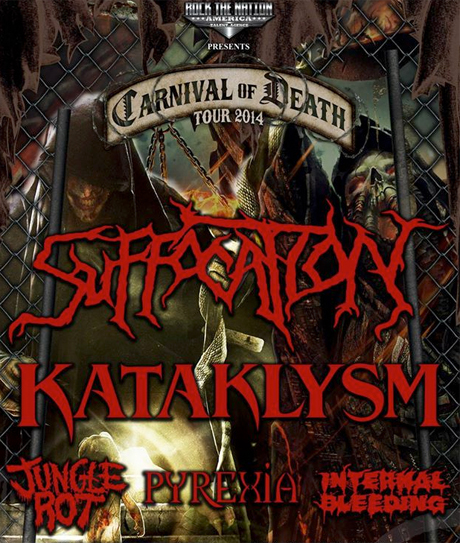 Kataklysm and Suffocation Team Up for 'Carnival of Death Tour 2014'