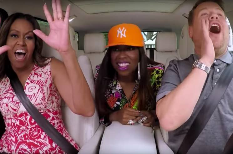 "​Watch Missy Elliott Join Michelle Obama on James Corden's ""Carpool Karaoke"""