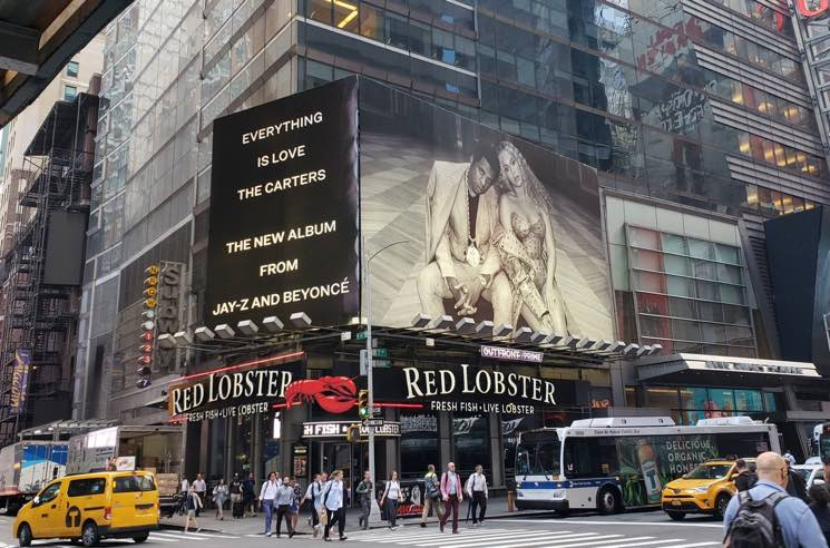 ​JAY-Z and Beyoncé Put an 'Everything Is Love' Ad Above Red Lobster in Times Square