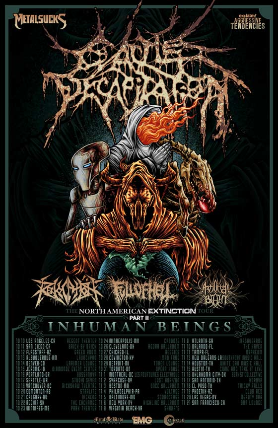 Cattle Decapitation Announce Tour with Revocation, Full of Hell and Artificial Brain