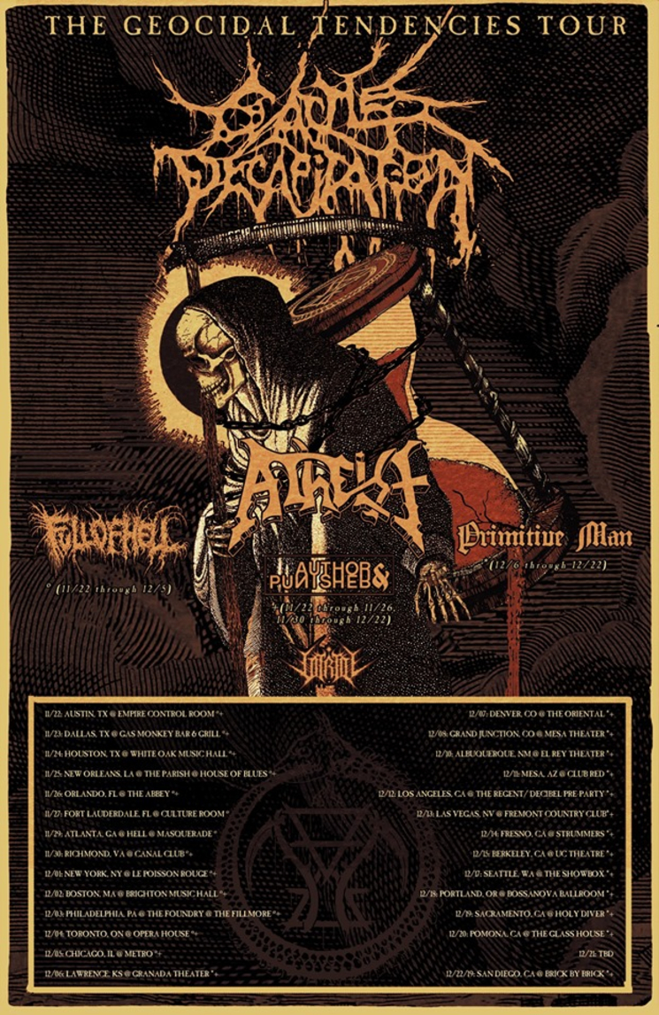Cattle Decapitation Announce North American Tour with Atheist, Full of Hell