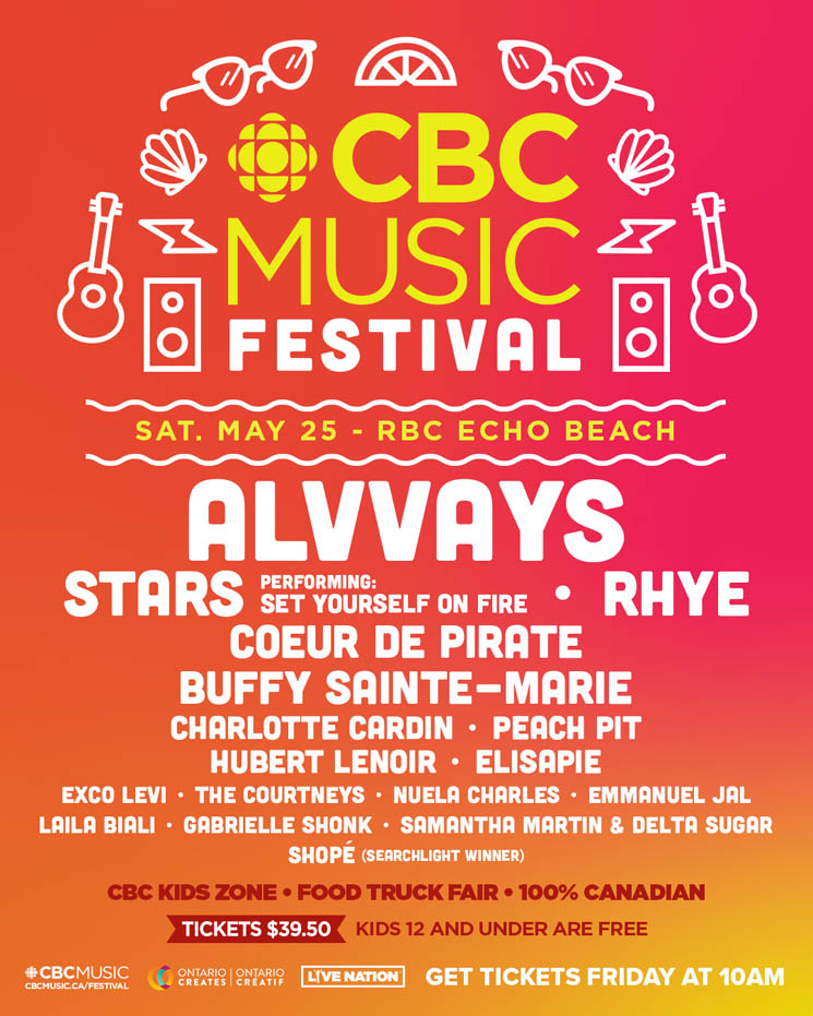CBC Music Festival Unveils 2019 Lineup with Alvvays, Stars, Rhye