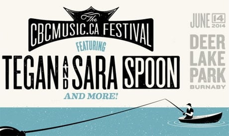 CBCMusic.ca Festival Brings Tegan and Sara, Spoon, Chad VanGaalen to Burnaby