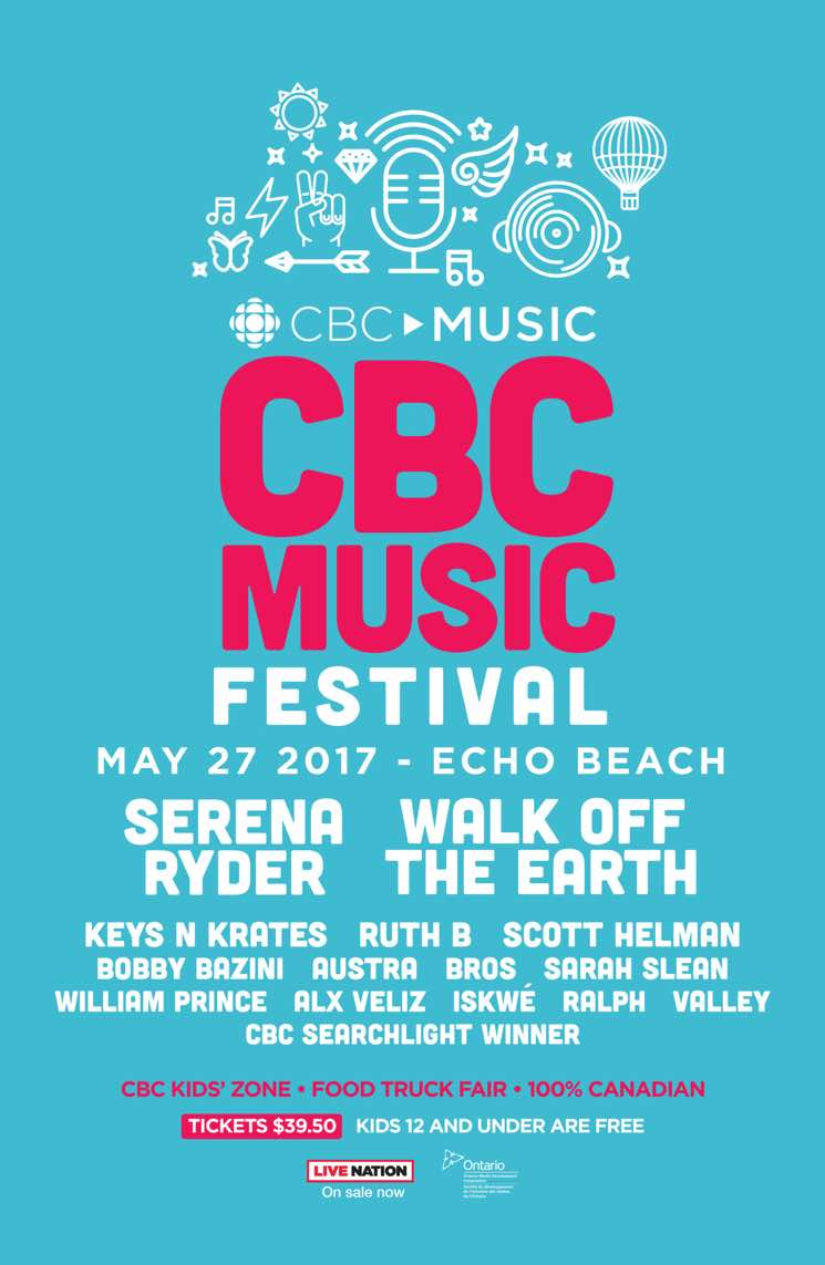 ​CBC Music Festival Reveals 2017 Lineup with Serena Ryder, Walk Off the Earth, Keys N Krates