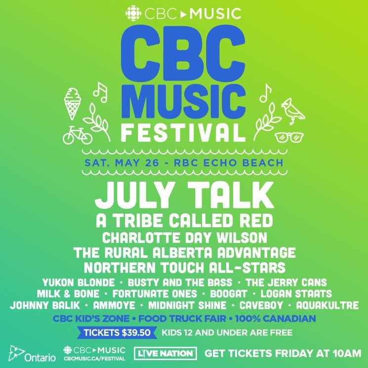 ​CBC Music Festival Reveals 2018 Lineup with July Talk, A Tribe Called Red, Charlotte Day Wilson