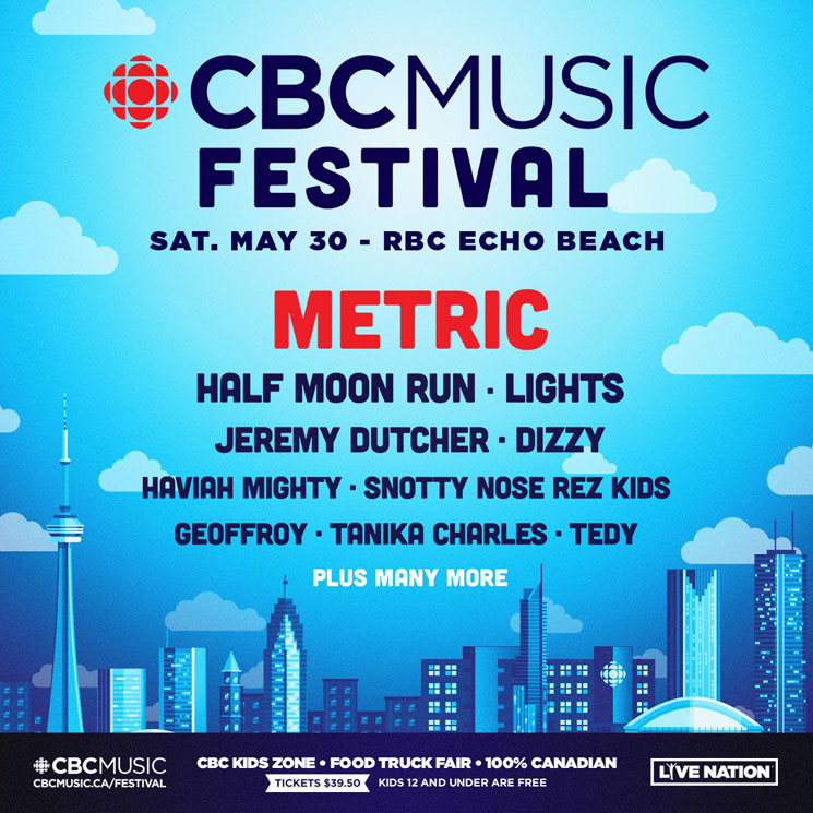 CBC Music Festival Unveils 2020 Lineup with Metric, Half Moon Run, Lights