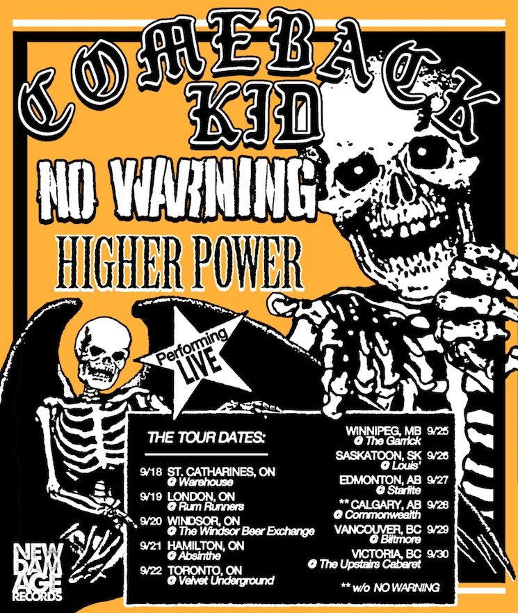 Comeback Kid and No Warning Team Up for Canadian Tour