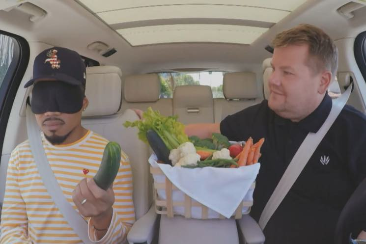 "​Watch Chance the Rapper Eat Vegetables on ""Carpool Karaoke"""