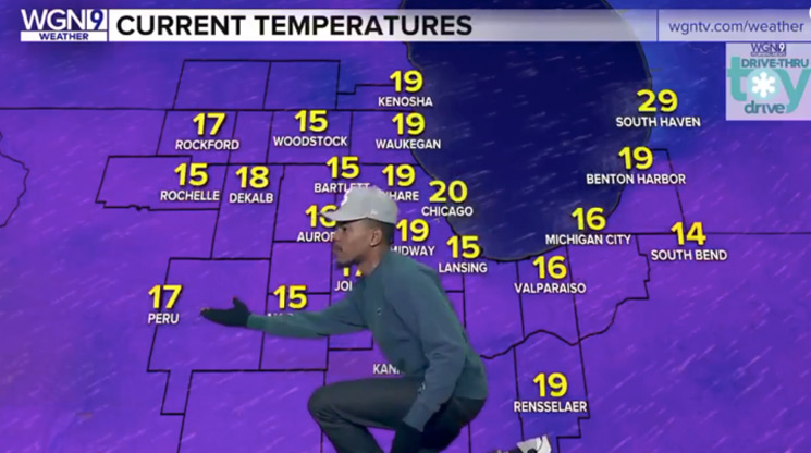 Watch Chance the Rapper Become Chance the Weatherman