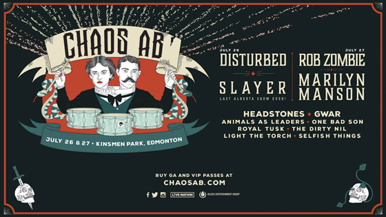 Edmonton's Chaos AB Festival Gets Slayer, Marilyn Manson for Inaugural Edition