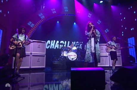 Charli XCX 'Boom Clap' (live on 'Meyers')