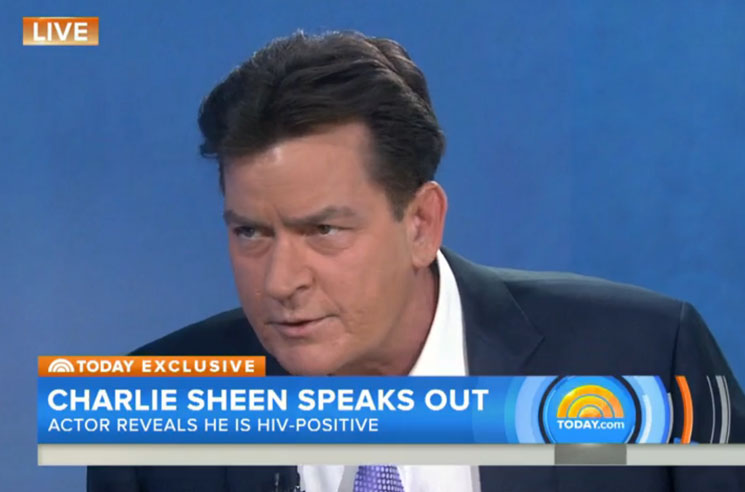 Charlie Sheen Reveals He Is HIV-Positive on 'TODAY'